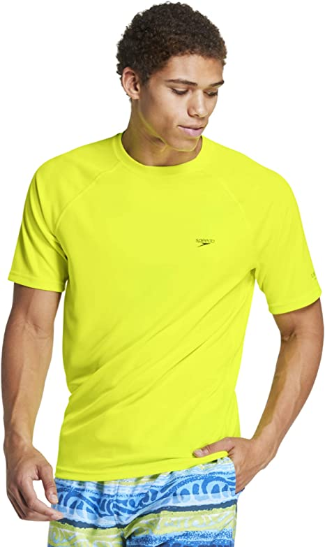 Speedo Solid Short Sleeve UV Swimshirt Regular Fit - Camisa de protección de Sarpullido Hombre: Amazon.es: Deportes y aire libre