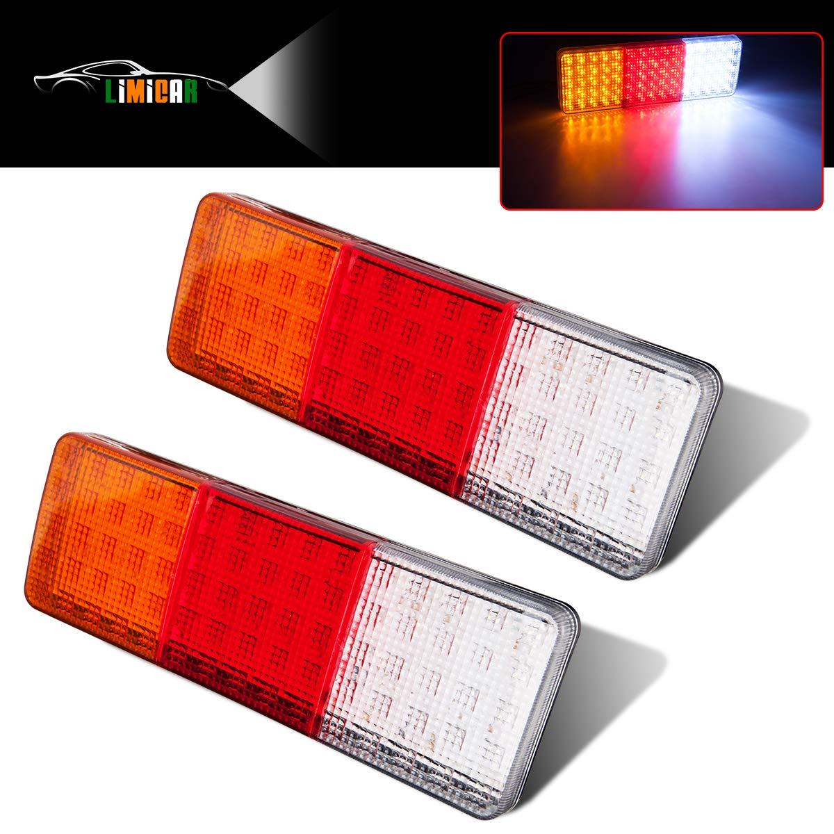 LIMICAR 75 LED Truck Tail Light Bar Waterproof Turn Signal Brake Reverse Running Taillight for Truck Boat Trailer Pickup RV Camper UTV UTE Vans (2PCS)