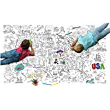Great2bColorful Really Big Coloring Poster (60''x 36'') Coloring America with State Trivia