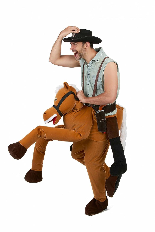 compras en linea Generique - - - Disfraz Hombre con Caballo Adulto única  más vendido