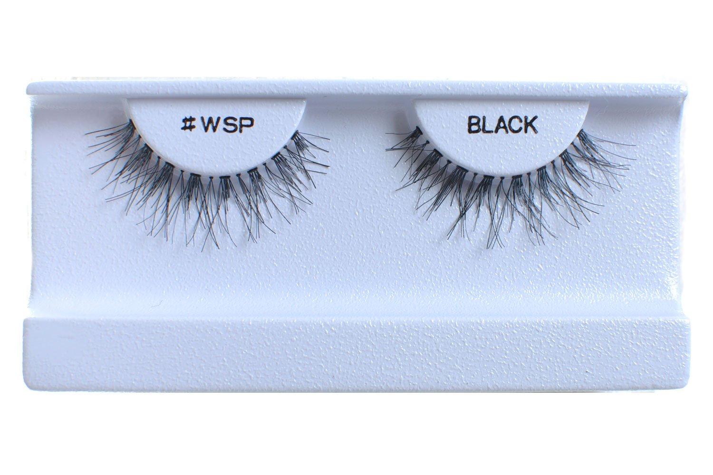 100 Pairs 100% Human Hair False Eyelashes Natural Black #WSP by BULKLASHES