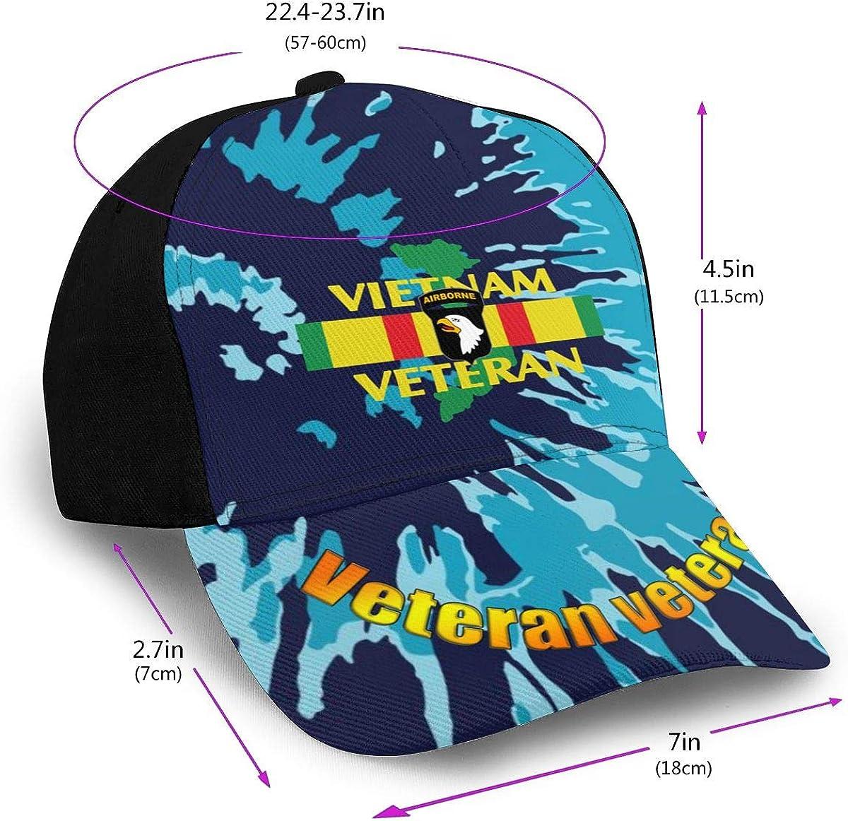 101st Airborne Vietnam War Veteran Classic Adult Hop Printing Duck Tongue Baseball Hats Snapback Men Women Hats Adjustable