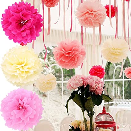 Amazon bringsine 5 pack crafts pom poms tissue paper flowers bringsine 5 pack crafts pom poms tissue paper flowers ball wedding party mightylinksfo