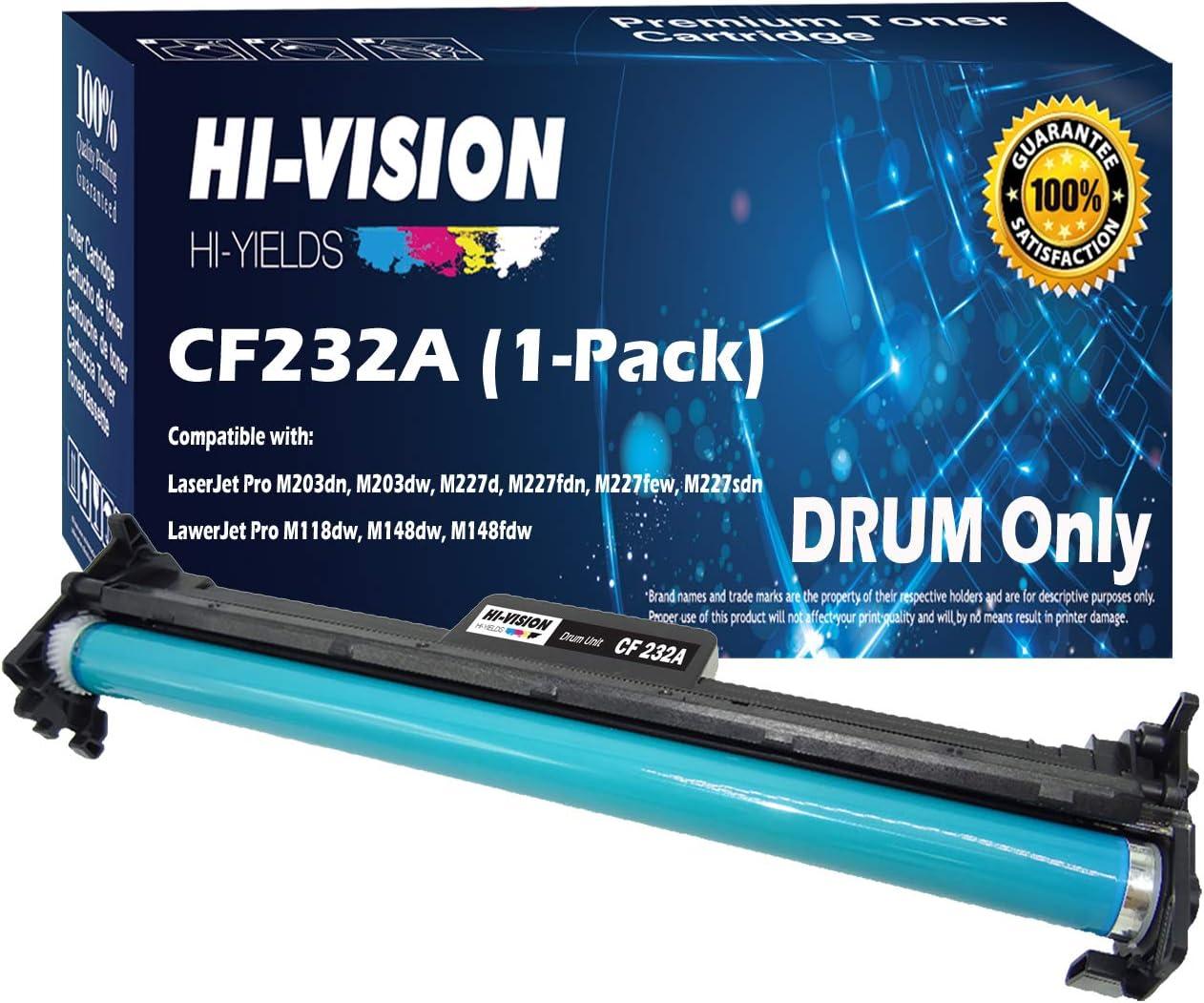 HI-VISION HI-YIELDS Compatible Drum Unit Replacement CF232A 32A 23,000 Pages for HP Laserjet Pro M203dn M203dw M227d M227fdn M227fdw M227sdn (Black, 1-Pack)
