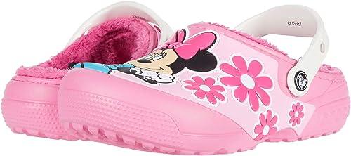 Crocs Funlab Disney Minnie Mouse Lined Clog Kids Pink Lemonade Croslite