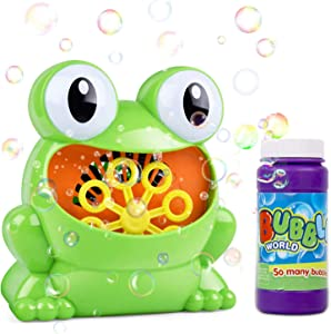Bubble Machine, Automatic Bubble Maker, Bubble Blower Toy for 4/5/6 Years Kids & Boys & Girls & Toddlers , Outdoors & Party & Wedding, 800+ Bubbles per Minute with 120ml Solution
