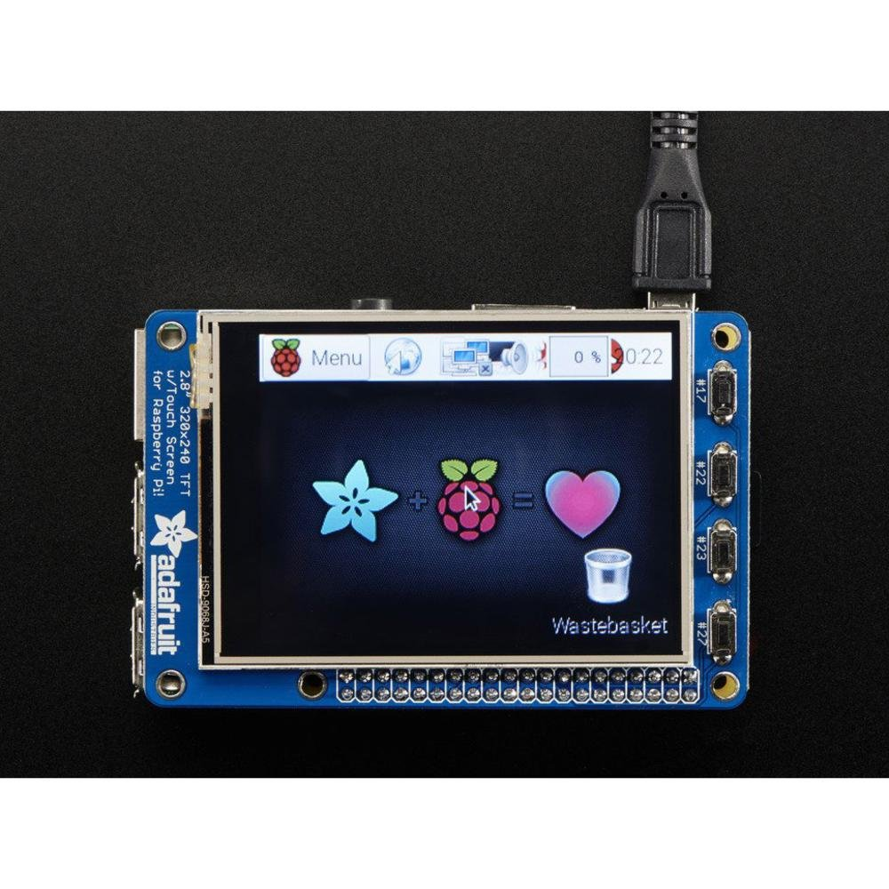 PiTFT Plus 2.8in Resistive Touchscreen Raspberry Pi 2298