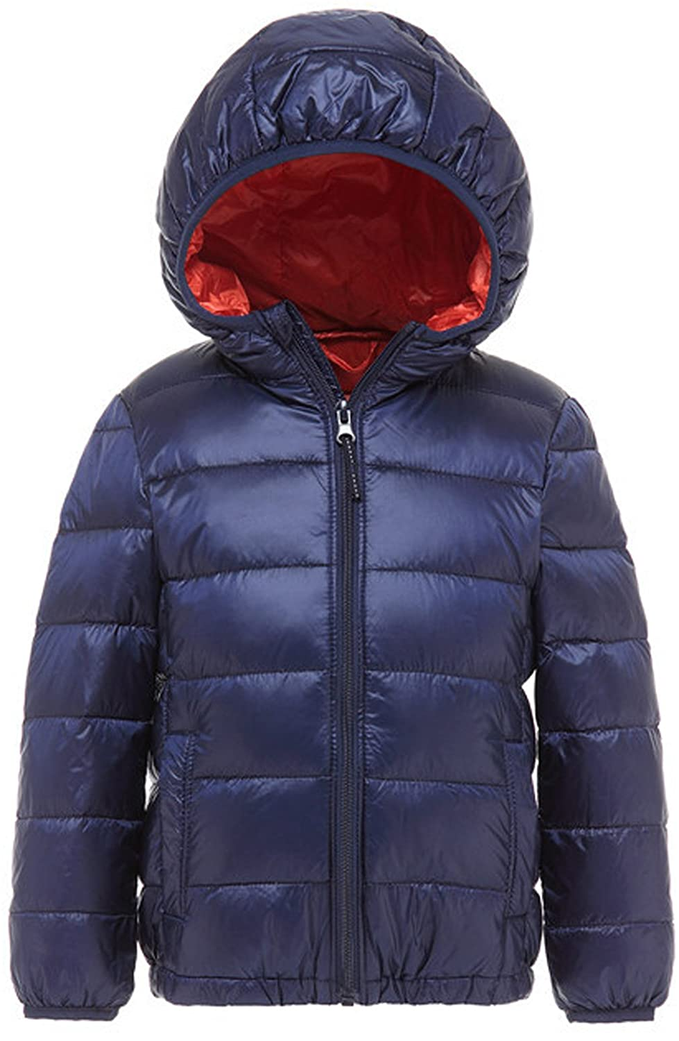 Wenseny Down Jack Boys Girls Winter Packable Quilted Lightweight Hoodie Down Jacket 8 Color Available ace011