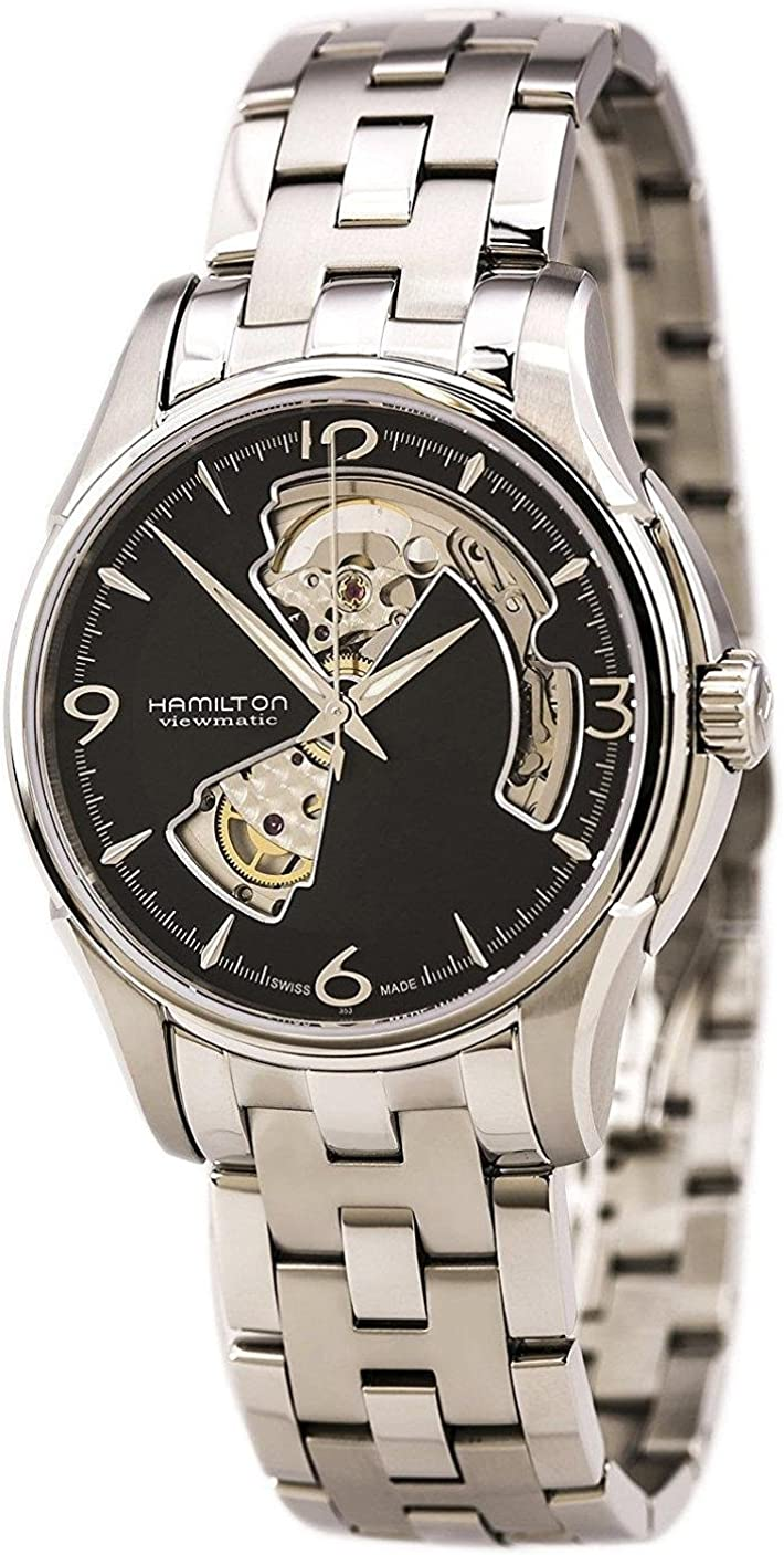 Hamilton Jazzmaster Open Heart Automatic Black Dial Men s Watch H32565135
