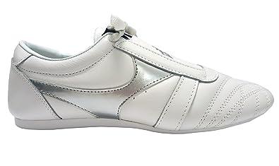 5b0c1fd3fcf9 DOUBLE Y Chaussures arts martiaux en cuir blanc  Amazon.fr ...
