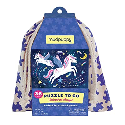 Mudpuppy Unicorn Magic to Go Puzzle, 36 Pieces, Ages 3+, Travel-Friendly Bag, Made with Safe, Non-Toxic Materials: Toys & Games