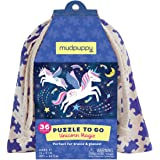 Mudpuppy Unicorn Magic to Go Puzzle, 36 Pieces, Ages 3+, Travel-Friendly Bag, Made with Safe, Non-Toxic Materials, Multicolor