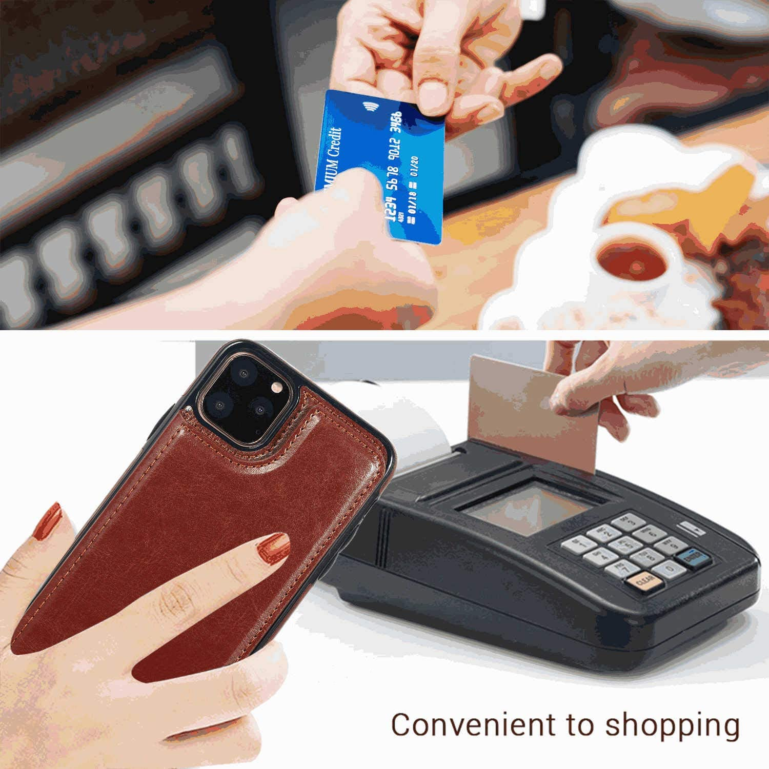 Leather Case for Samsung Galaxy S7 Edge Flip Cover fit for Samsung Galaxy S7 Edge Business Gifts with Waterproof-case Bags