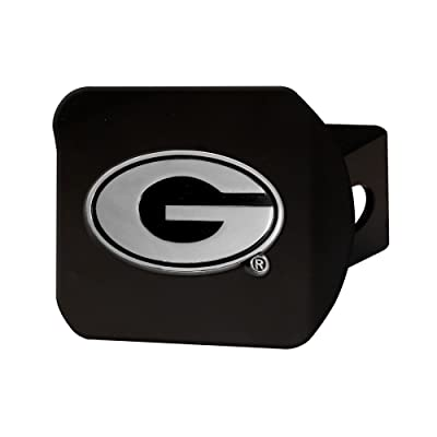 "FANMATS 21030 Team Color 3.4""x4"" Georgia Black Hitch Cover: Automotive"