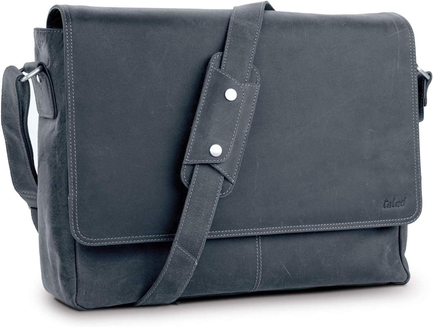 TALED® Premium Messenger Bag Herren-schwarz –