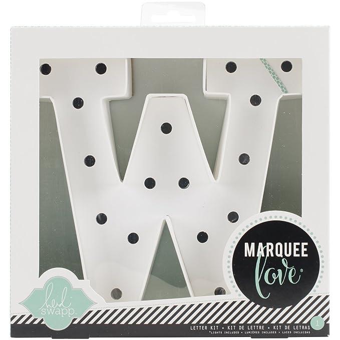 Blanco Cart/ón Heidi Swapp Marquee Love Led Letras L 21.6x5.6x21.6 cm