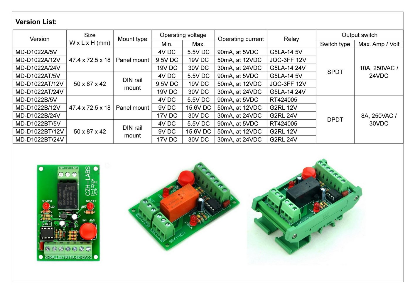 Electronics Salon Panel Mount Momentary Switch Pulse Signal Control How To Build Relay Toggle Circuit Using A 556 Timer Latching Spdt Module 12v Industrial Scientific