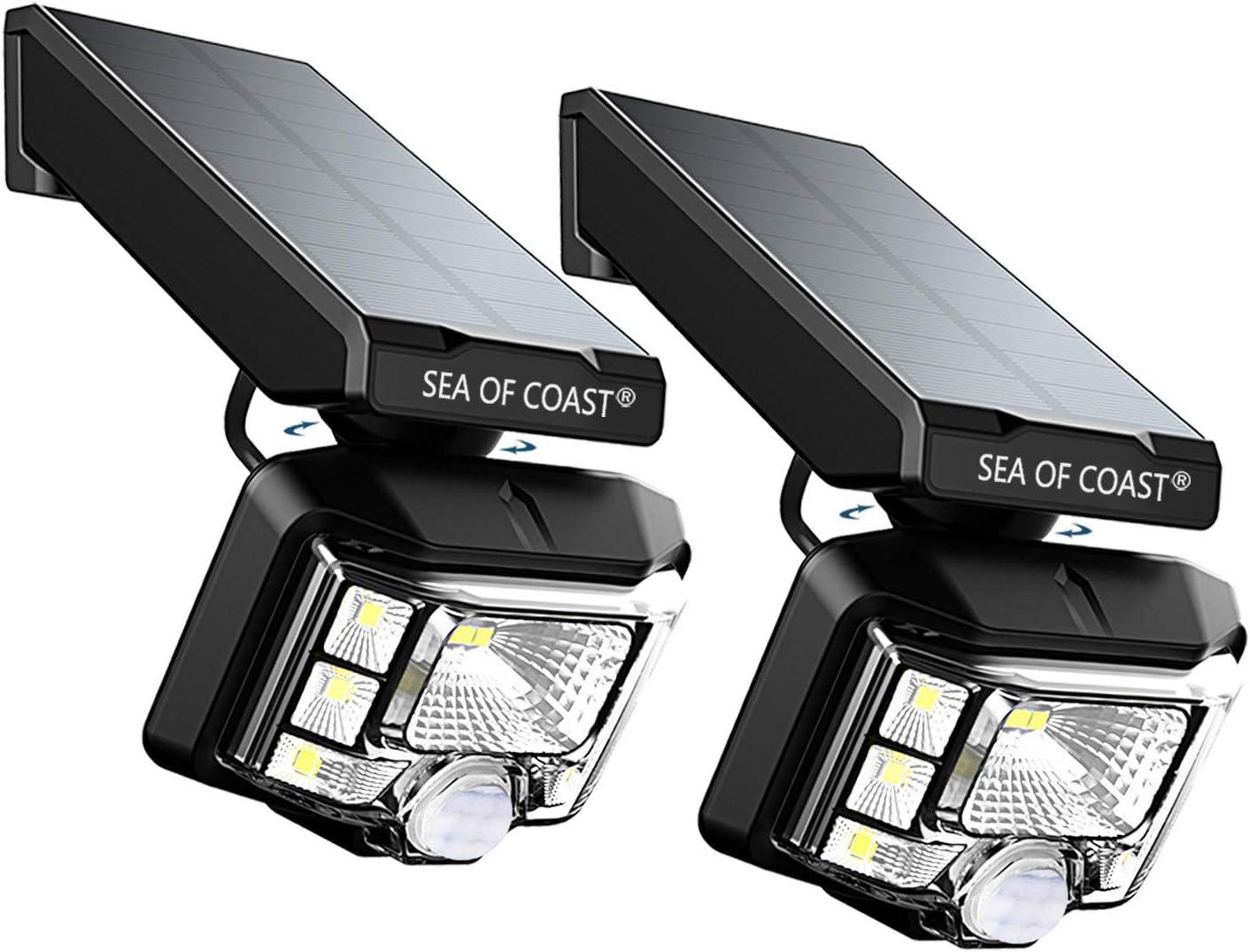 Outdoor Wireless Solar Lights, Intelligent dynami Sensor, 8 LED Lighting Super Bright Motion Sensor Light, Wall Solar Light Outdoor Security Lighting – IP65 Waterproof Solar Light for Patio 2pack