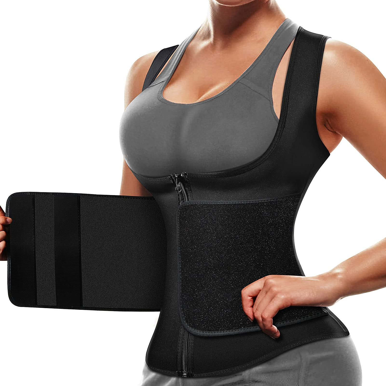 Cimkiz Sauna Suit Women Sweat Vest Waist Trainer Vest Neoprene Workout Tank