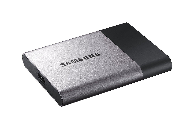 Samsung T3 Portable SSD - 250GB - USB 3.1 External SSD (MU-PT250B/AM) (Renewed) by Samsung