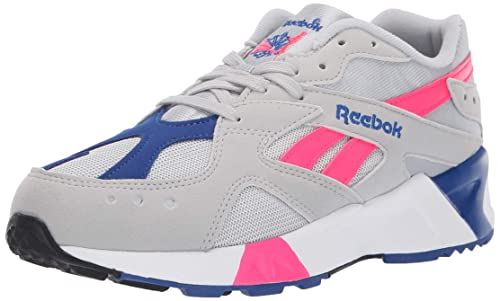 Reebok Men's AZTREK Shoes, Skull Grey/Acid Pink/Collegiate Royal ...