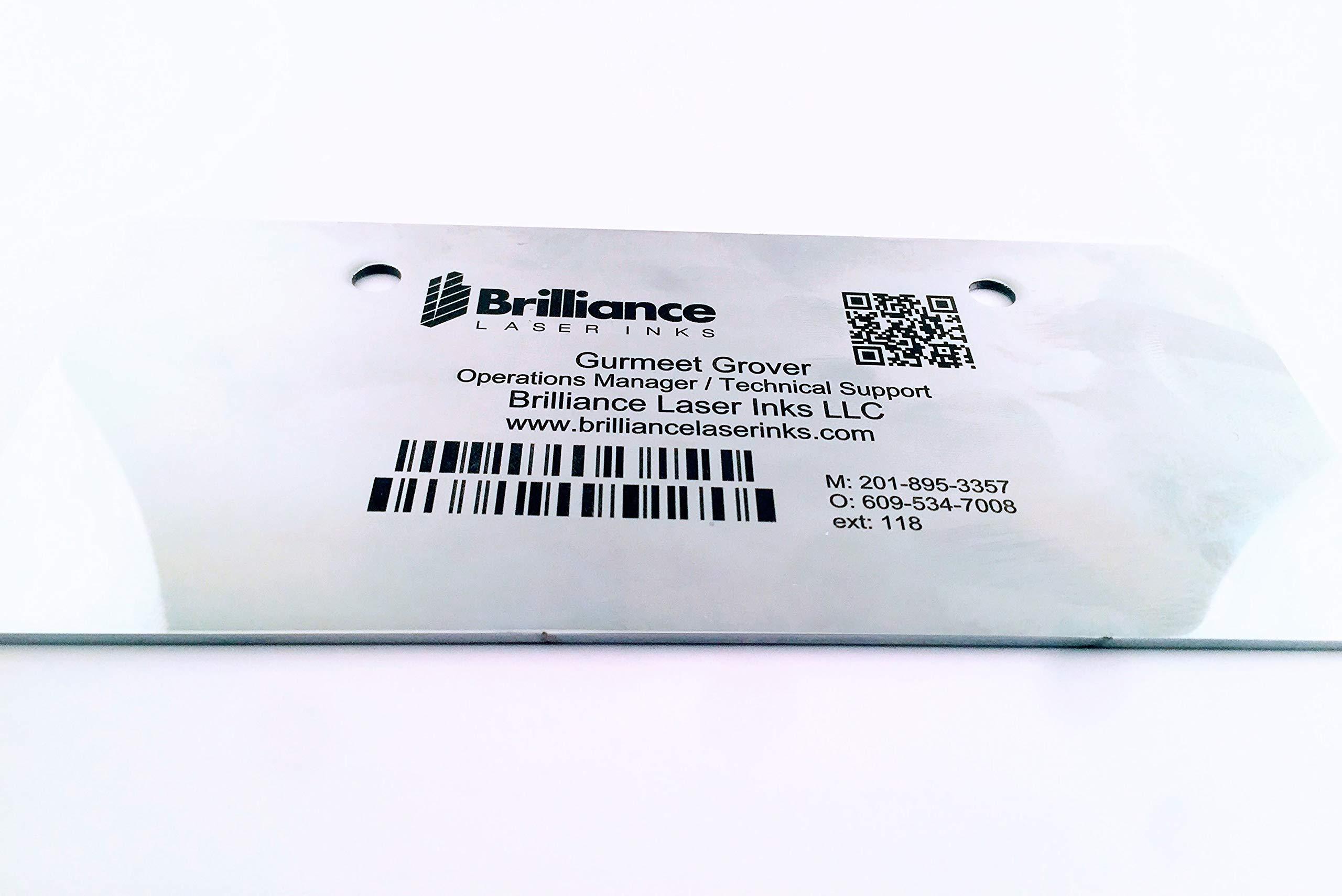 Laser Marking Powder-''Brilliance Laser Inks'' -BLI101MBPWD500 Grams- Black Laser Ink Powder for Metals Marking with CO2/Fiber/YAG (500 Grams) by Brilliance Laser Inks (Image #6)