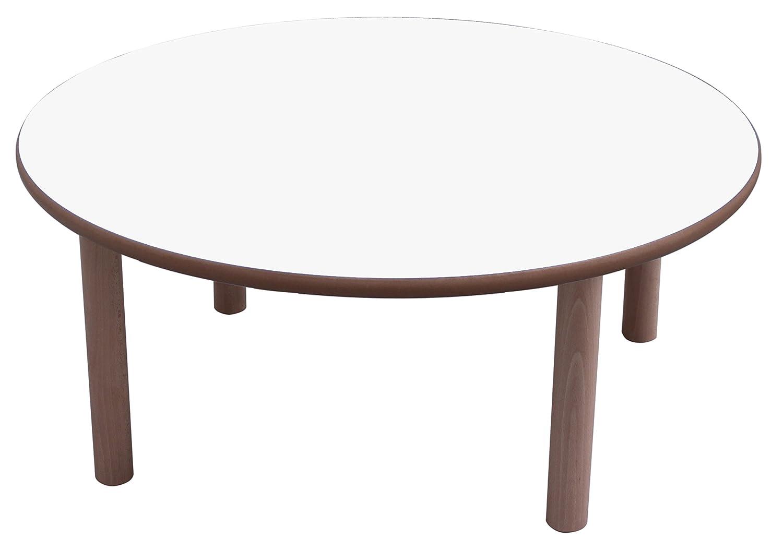 Mobeduc –  Kindertisch rund, Holz diá metro de 80 cm, Talla 0 Haya y Azul Oscuro Mobeduc_600554.8H200