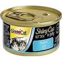 GimCat ShinyCat Kitten in Jelly, atún - Alimento húmedo para gatitos jóvenes, con pescado y taurina - 48 latas (48 x 70…