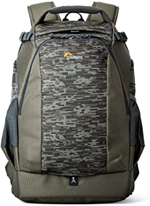 Lowepro LP37130-PWW, Flipside 400 AW II Camera Backpack, Tablet Compartment, Fits DSLR with Mounted Lens, Compact Drone, 4-6 Additional Lenses, Flash, Mica/Camo