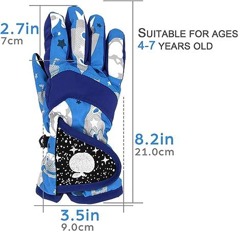 NEW BOYS SURFANIC BLUE EROSION WINTER SKI GLOVES THERMAL WATERPROOF AGE 7//9
