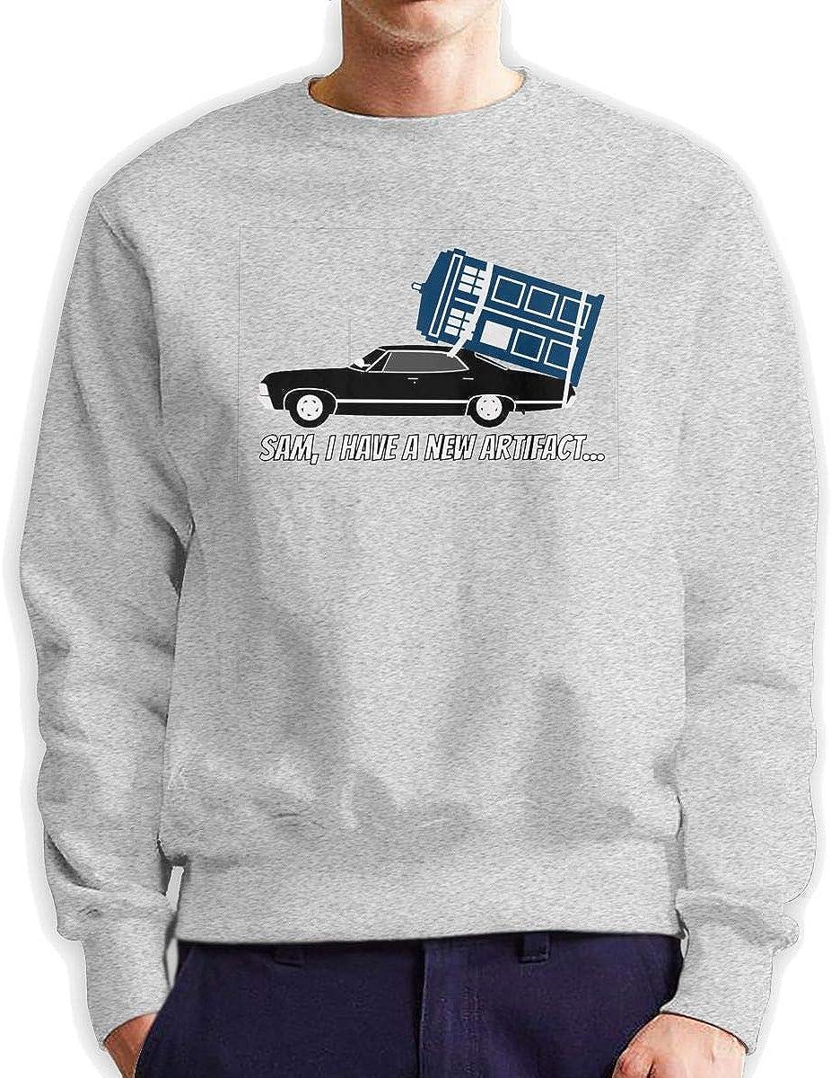 Xqf Supernatural and Dr Who,sam,I Have A New Artifact Mens Crewneck Sweatshirt,Sweatshirt for Womens