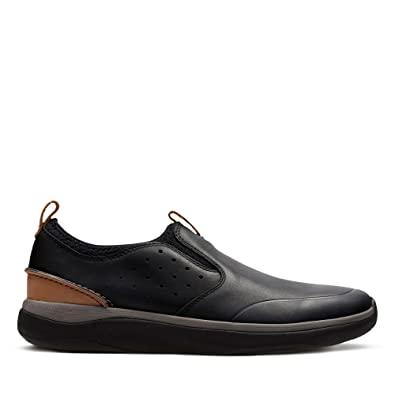 cec58b02c Clarks Garratt Slip Leather Shoes in Black Standard Fit Size 8 ...