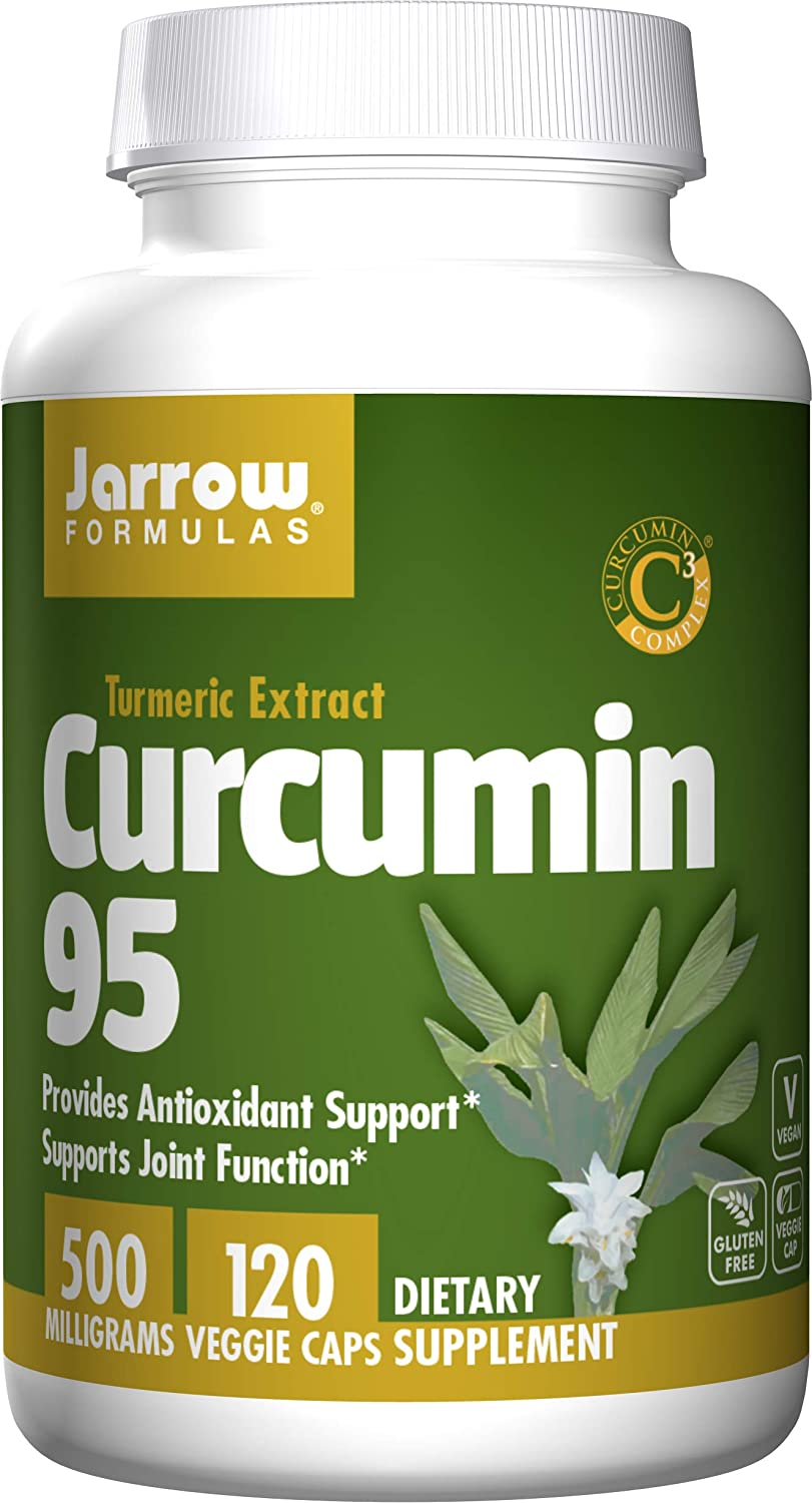 Jarrow Formulas Curcumin 95, Provides Antioxidant Support, 500 mg, 120 Veggie Caps: Health & Personal Care