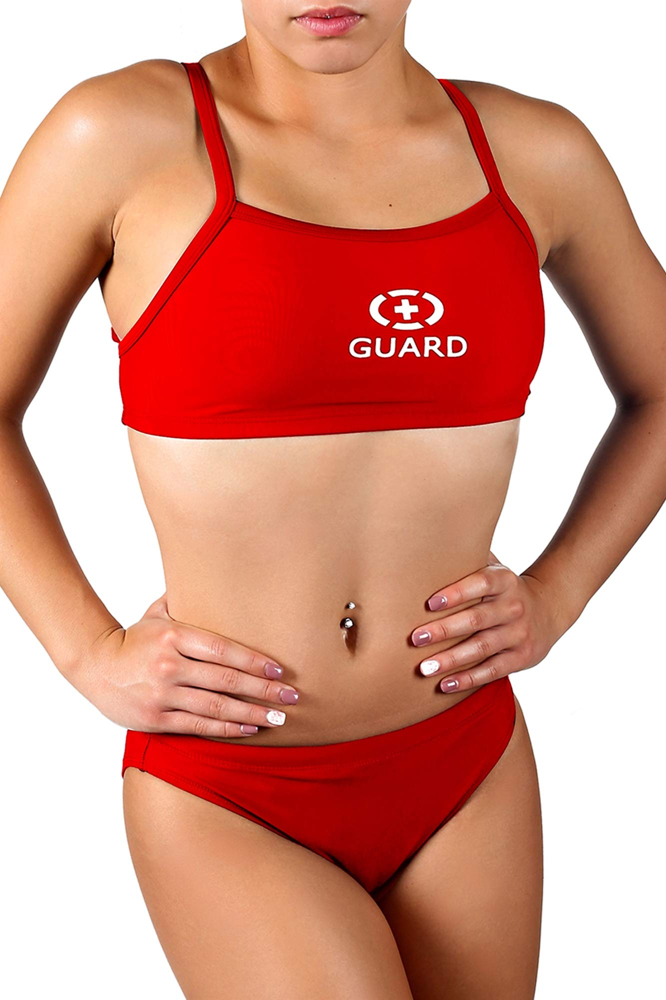 Speedo Womens Guard Swimsuit Sport Bra Top Endurance