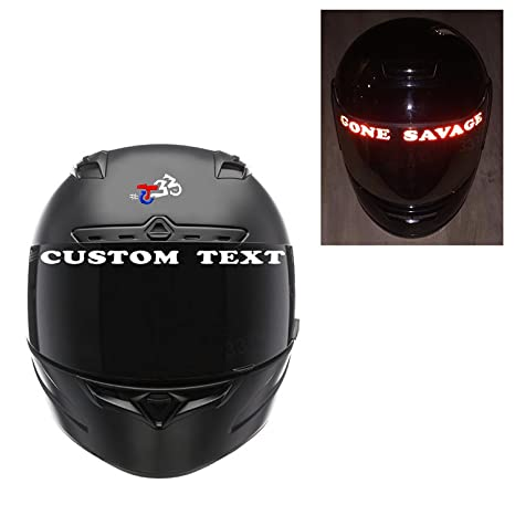 Customtaylor33 Reflective Helmet Visor Decals Many Styles Colors Sold As Pair Custom Text
