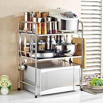 Artículos de uso doméstico Cocina Estantería multiuso Estanterías de horno de microondas Estanterías de acero inoxidable