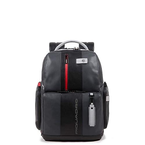 Piquadro Brief Business Mochila piel 42 cm compartimento Laptop: Amazon.es: Zapatos y complementos