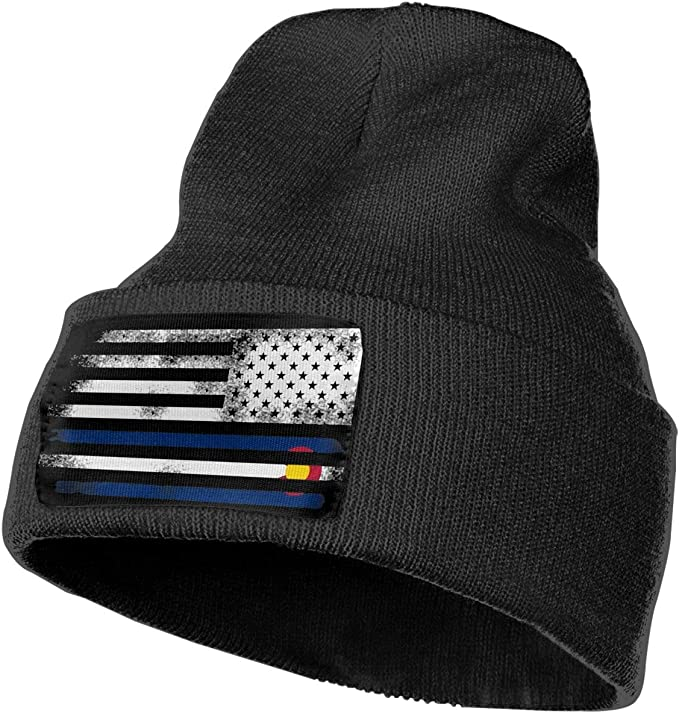 Vintage Colorado Flag Skull Cap Beanie That Will Fit Your Head Perfect