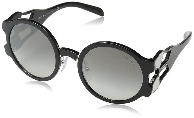 Prada Damen Sonnenbrille 0PR13US 1AB0A7, Schwarz (Black/Grey), 54