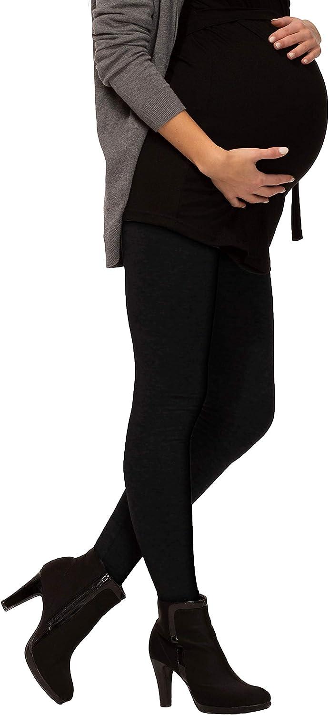 BeLady Damen Thermo Leggings Umstandsleggins f/ür Schwanger Kn/öchellang aus Baumwolle mit Weichem Warmen Innenfleece Abnehmen Hose mit Hoher Bund Schwarz Dunkelblau Grafitgrau