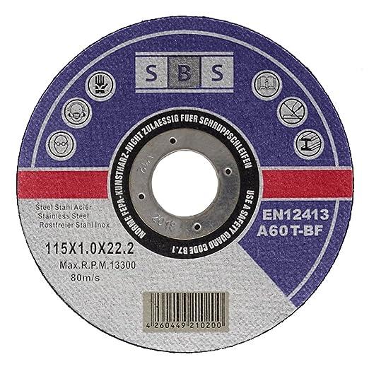 6 opinioni per 100 dischi da taglio inox 115 X 1,0 mm per taglio o smusso di spigolo