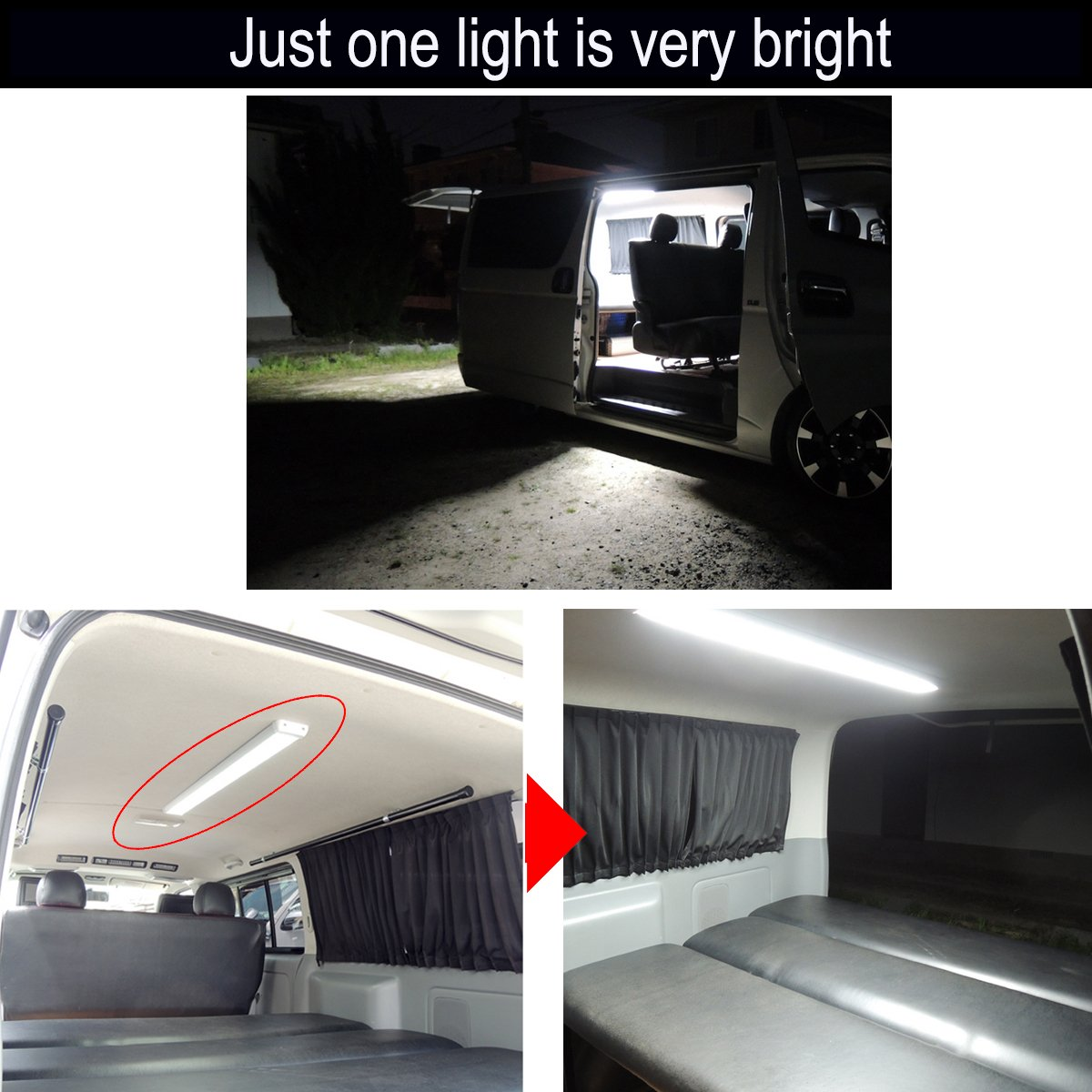 lightronic 41.8 Inches 60W LED Interior Dome Light Fixture Fit for RV, UTV and Boats by lightronic (Image #2)