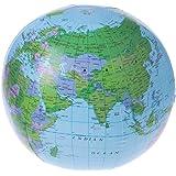 Manyao 30CMインフレータブル世界地図グローブバルーンビーチボール教育地理学童玩具