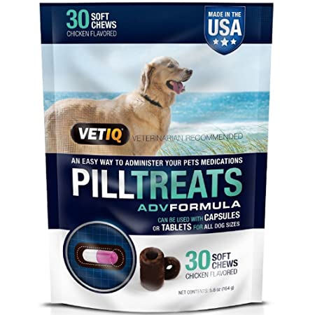 VetIQ Pill Treats Soft Chews for Dogs, Chicken Flavored 30 ea Pack of 3