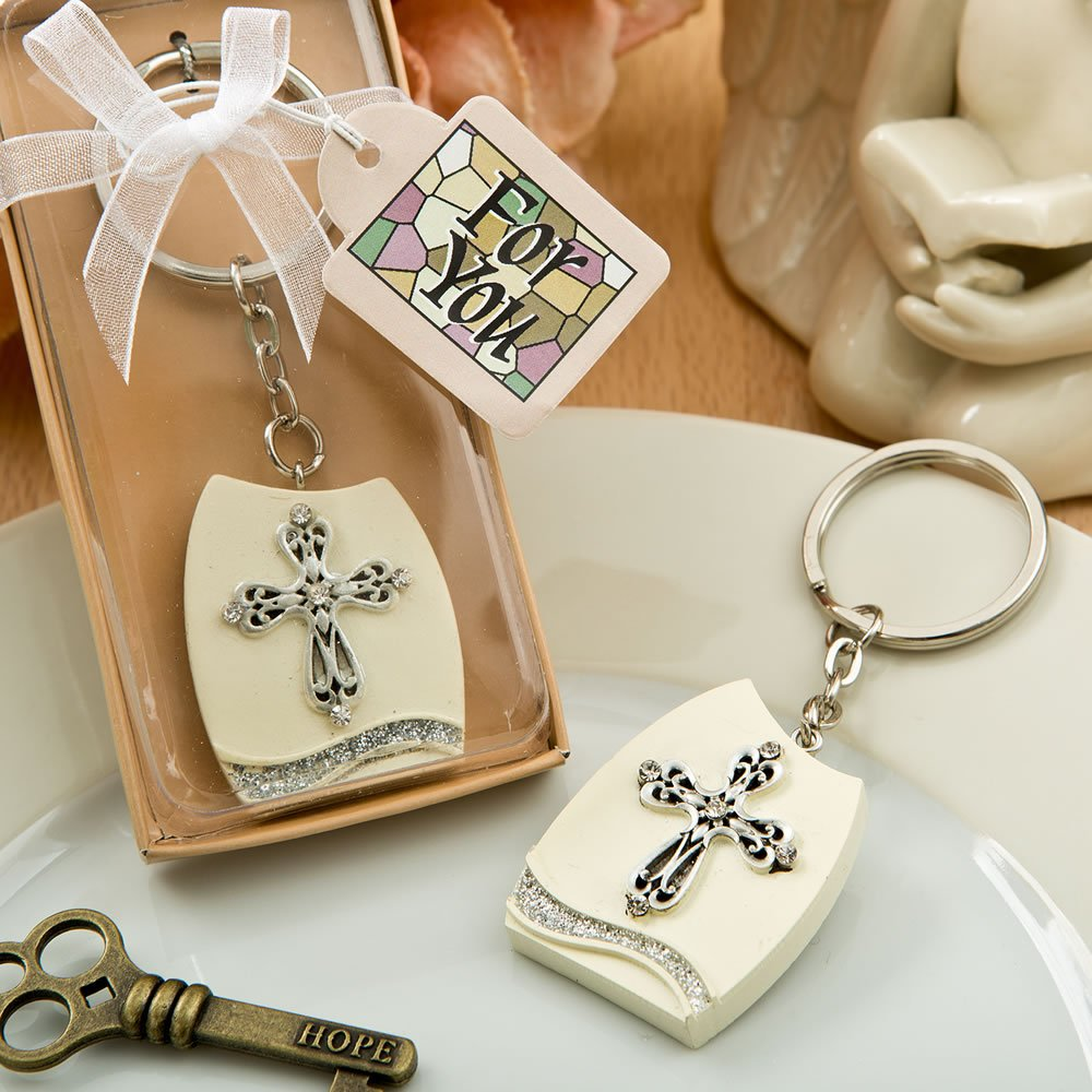 78 Beautiful Cross Themed Plaque Key Chains by Fashioncraft