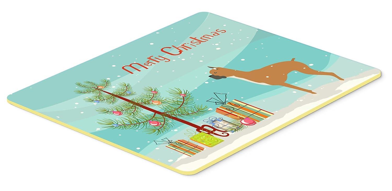 Caroline 's TreasuresボクサーMerryクリスマスツリーキッチンやバスマット20 x 30 bb2971cmt、20hx30 W、マルチカラー   B01M0OS8A6