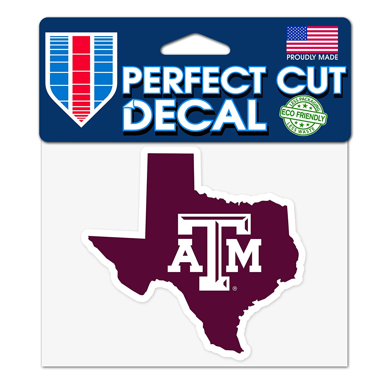 WinCraft Texas Longhorns NCAA 4x5 Perfect Cut State Decal