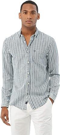 Salsa Camisa fit Slim a Rayas Verticales: Amazon.es: Ropa y accesorios