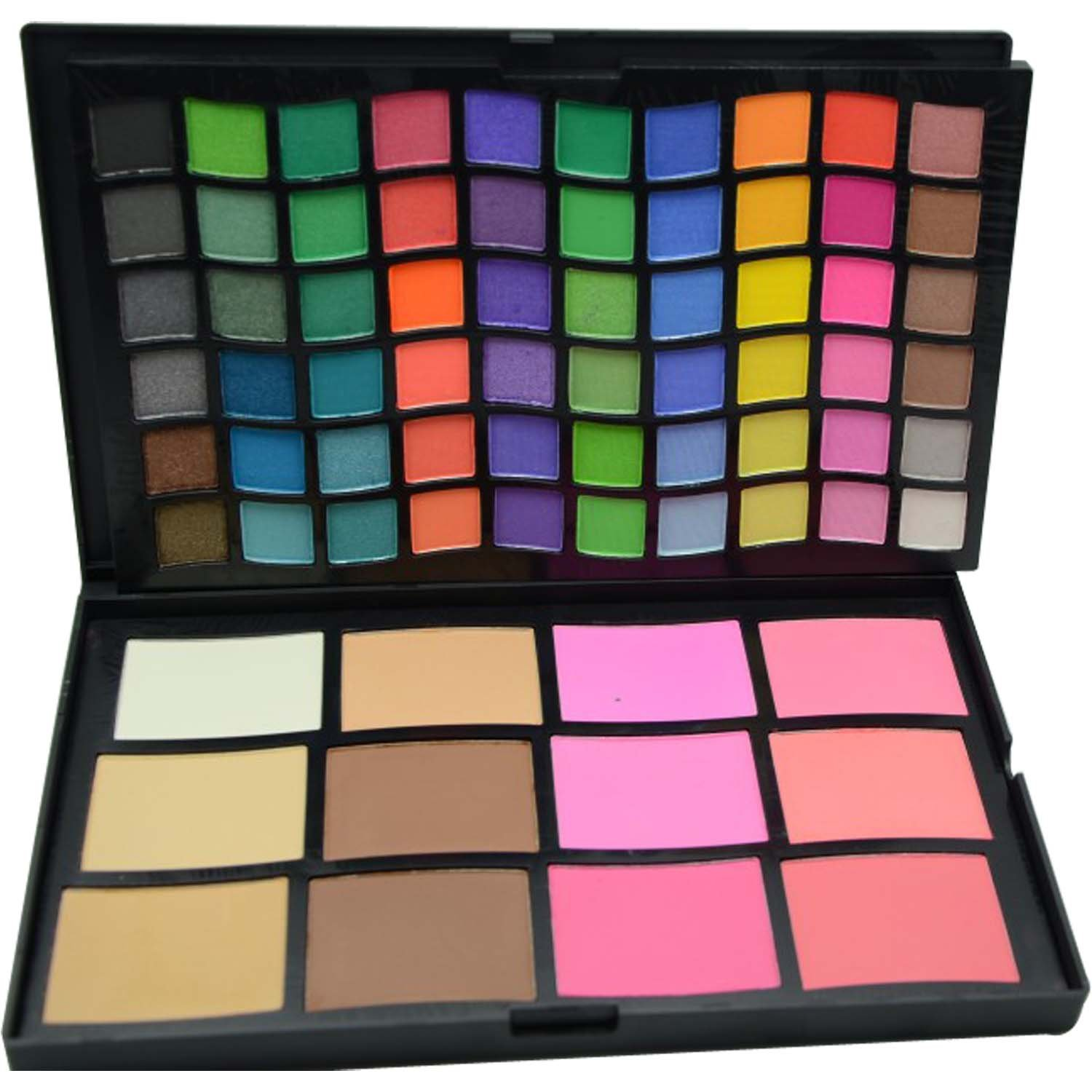 FASH Cosmetics 72 Color Shimmer and Matte Eye Shadow and Blusher Palette