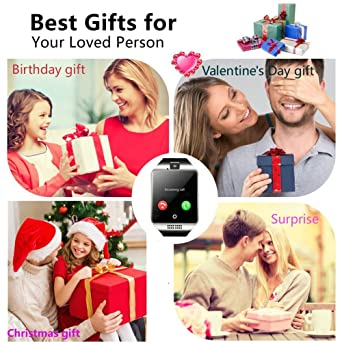 Amazon.com: Smartwatch Unlocked Watch Cell Phone All in 1 Wireless Smart Watch with Camera Handsfree Call for Samsung LG HTC Motorola Huawei Xiaomi and ...